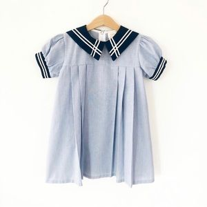 Vintage Little Bitty Sailor Dress, Size 5/6 years